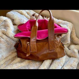 Shiraleah beautiful pre-loved brown bag/pink inter
